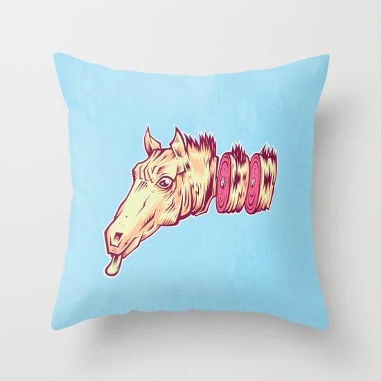ham horse pillow