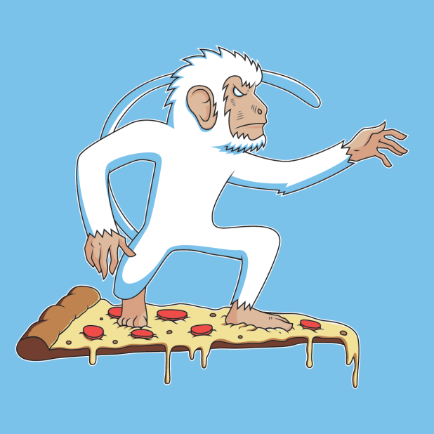 monkey pizza surfer image