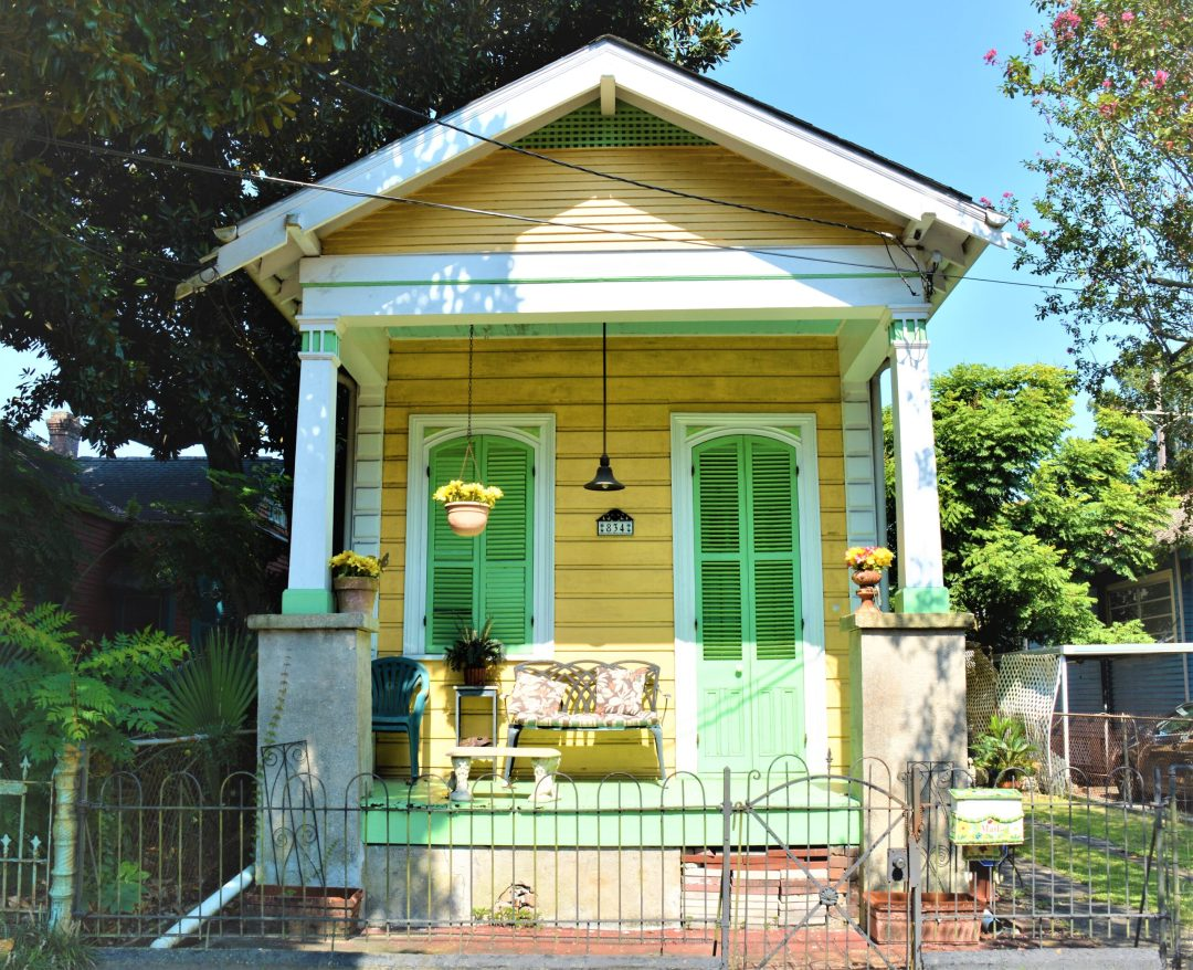 Single shotgun house in New Orleans