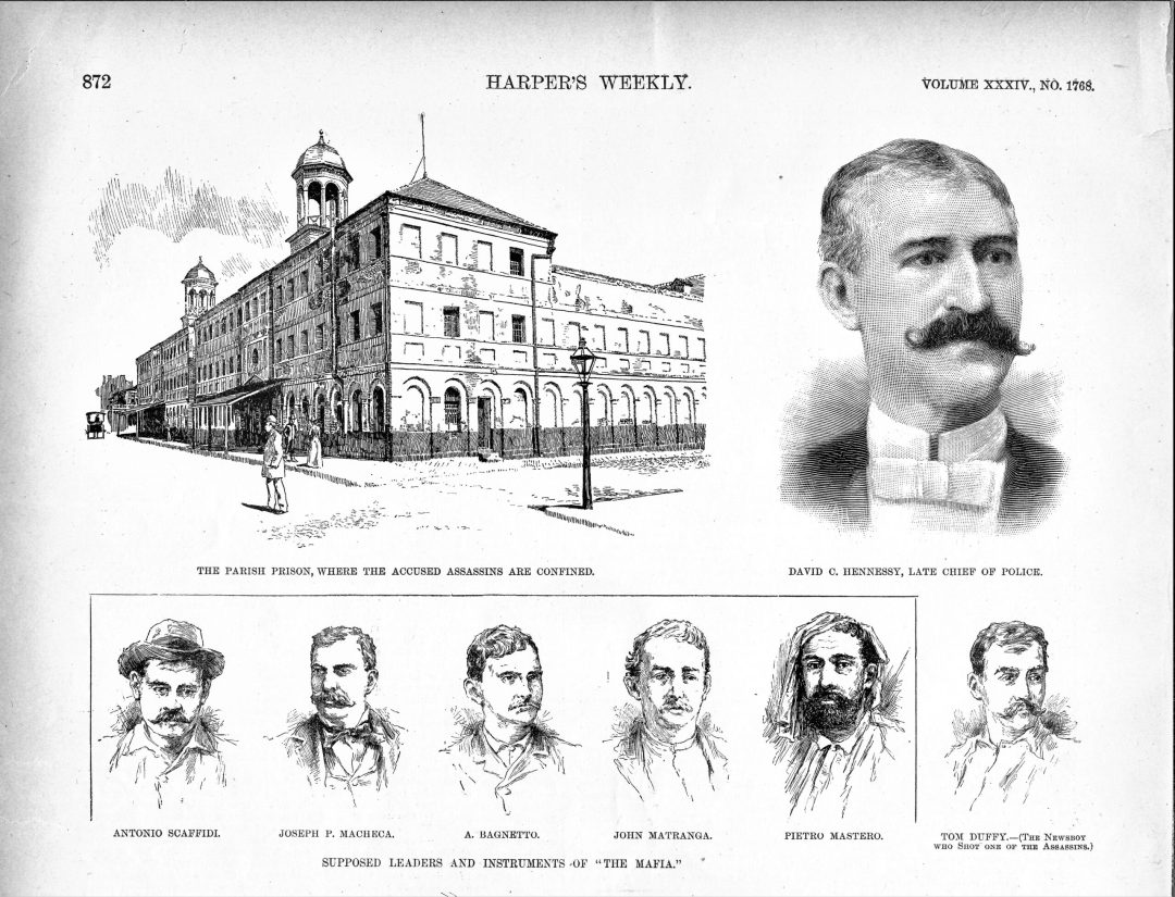 Harper's Weekly article about the assassination of New Orleans police chief Hennessey