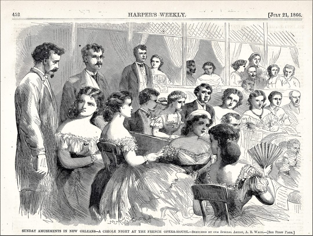 Harper's Weekly of women at the French Opera House
