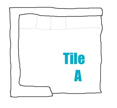Crudely drawn blueprint of tile
