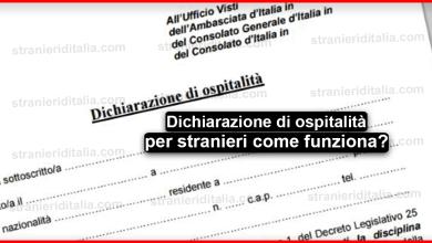 Photo of Dichiarazione di ospitalità per stranieri come funziona ? + il modulo pdf