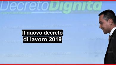 Il nuovo decreto di lavoro 2019 ( decreto dignità )