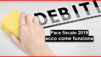 Photo of Pace fiscale 2019 ecco come funziona