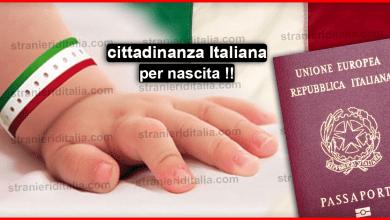 Cittadinanza per nascita sul territorio italiano ( Ius soli )