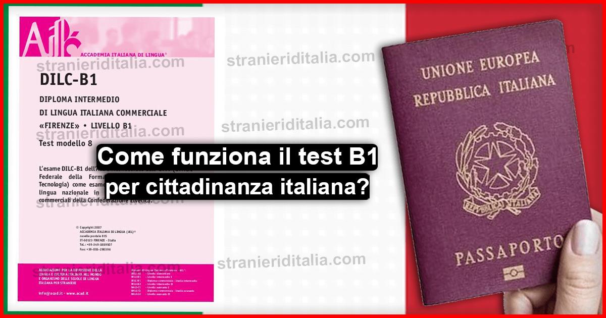 Come funziona il test lingua italiana per cittadinanza e ...