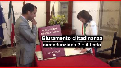 Giuramento cittadinanza italiana come funziona + il testo