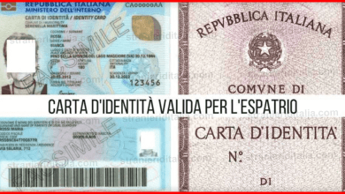 Photo of Carta d'identità valida per l'espatrio come si riconosce?