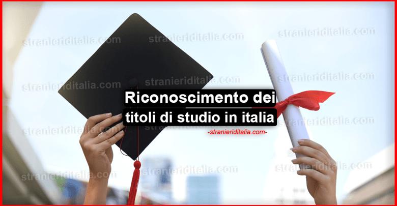 Riconoscimento dei titoli di studio in italia