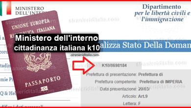 Photo of Ministero dell'interno cittadinanza italiana k10 – Consulta la pratica