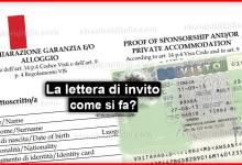 Lettera di invito per stranieri 2019 - cos'è e come si fa?