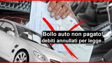 Photo of Bollo auto aggiornamenti: debiti annullati!!
