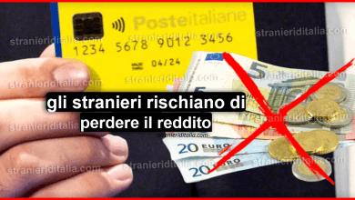 Photo of Gli stranieri rischiano di perdere il reddito di cittadinanza