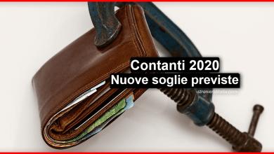 Photo of Contanti 2020: Nuove soglie previste dalla legge di bilancio