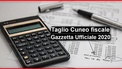 Photo of Taglio Cuneo fiscale: Gazzetta Ufficiale 2020 | Stranieri d'Italia