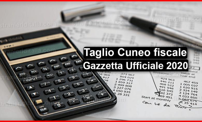 Taglio Cuneo fiscale: Gazzetta Ufficiale 2020   Stranieri d'Italia