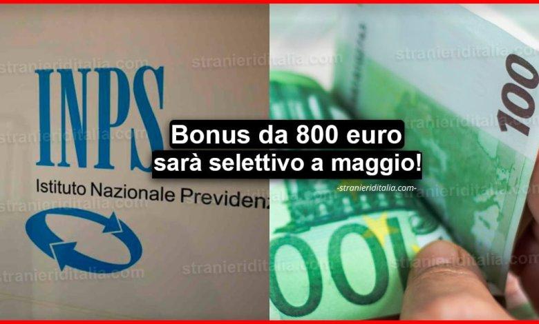 Bonus da 800 euro: Da automatico diventa selettivo a maggio!