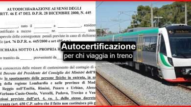 Photo of Autocertificazione per chi viaggia in treno   Stranieri d'Italia