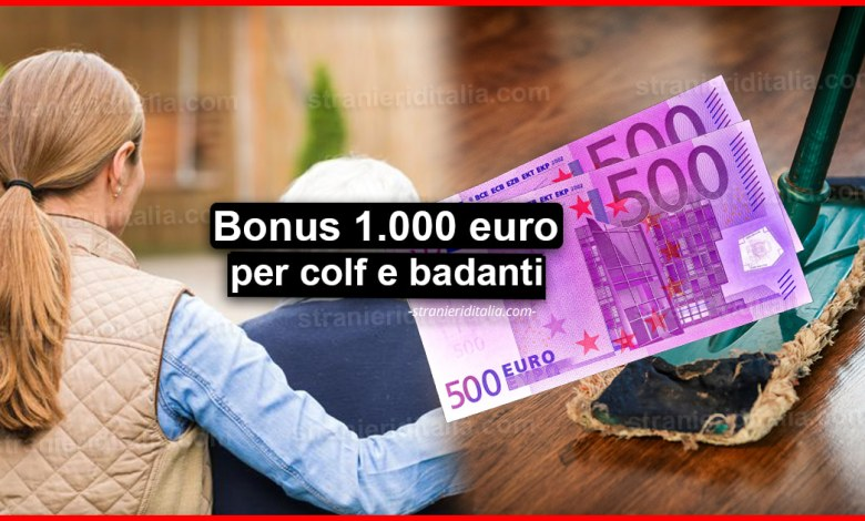 Bonus 1.000 euro colf e badanti: Ecco come ottenerlo