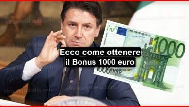 Photo of Bonus 1000 euro: Ecco come ottenerlo | Stranieri d'Italia