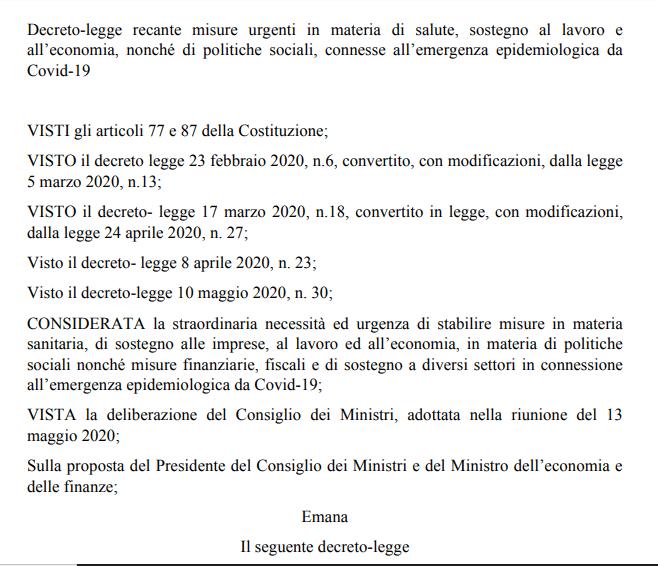 Gazzetta ufficiale 19 maggio 2020 pdf