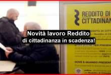 Photo of Reddito di cittadinanza in scadenza: Lavorare in ogni parte d'Italia