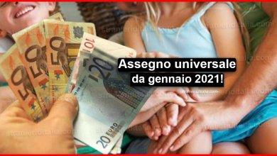 Photo of Assegno universale da gennaio 2021: alle famiglie con figli ogni mese