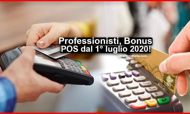 Bonus POS 2020 1 luglio: Cos'è e come funziona credito d'imposta 30%