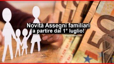 Photo of Novità Assegni familiari 2020 a partire dal 1° luglio!