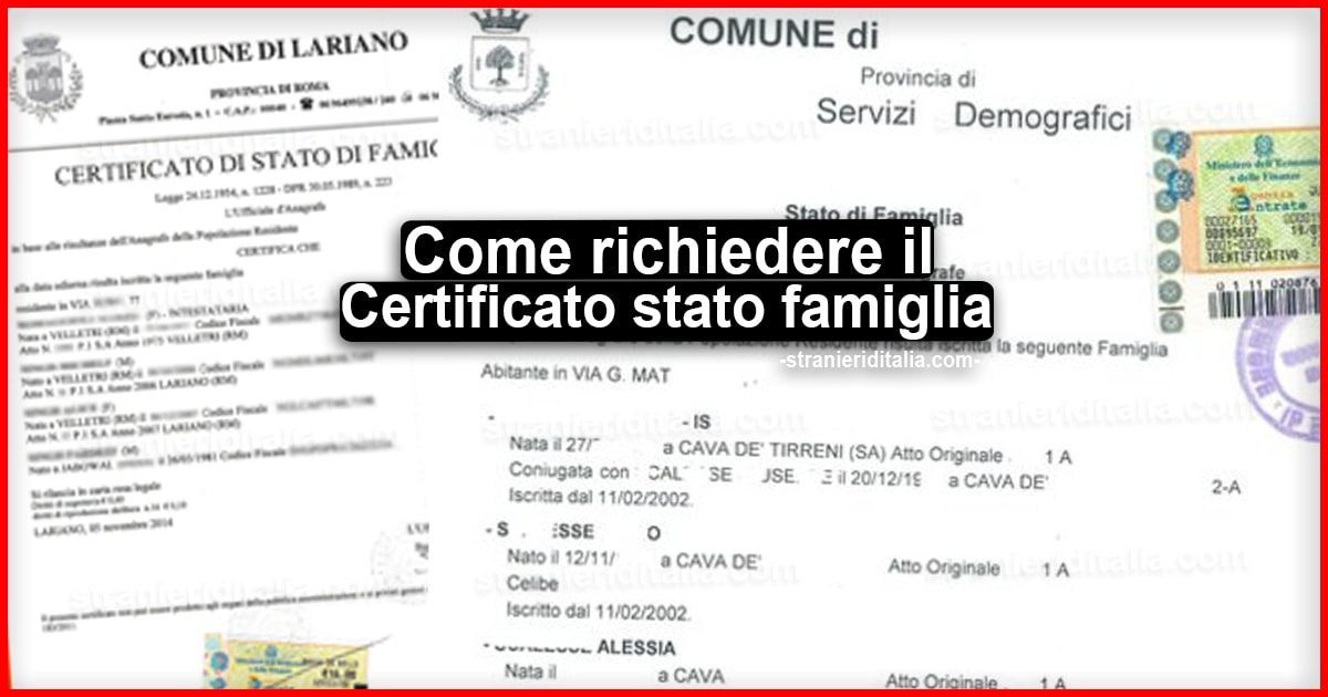 Certificato Stato Famiglia Cos E A Cosa Serve Costo Richiesta Autocertificazione