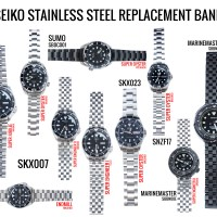 Selected SEIKO models : SKX007, Sumo, Tuna Divers - Curved Endlink replacement bands