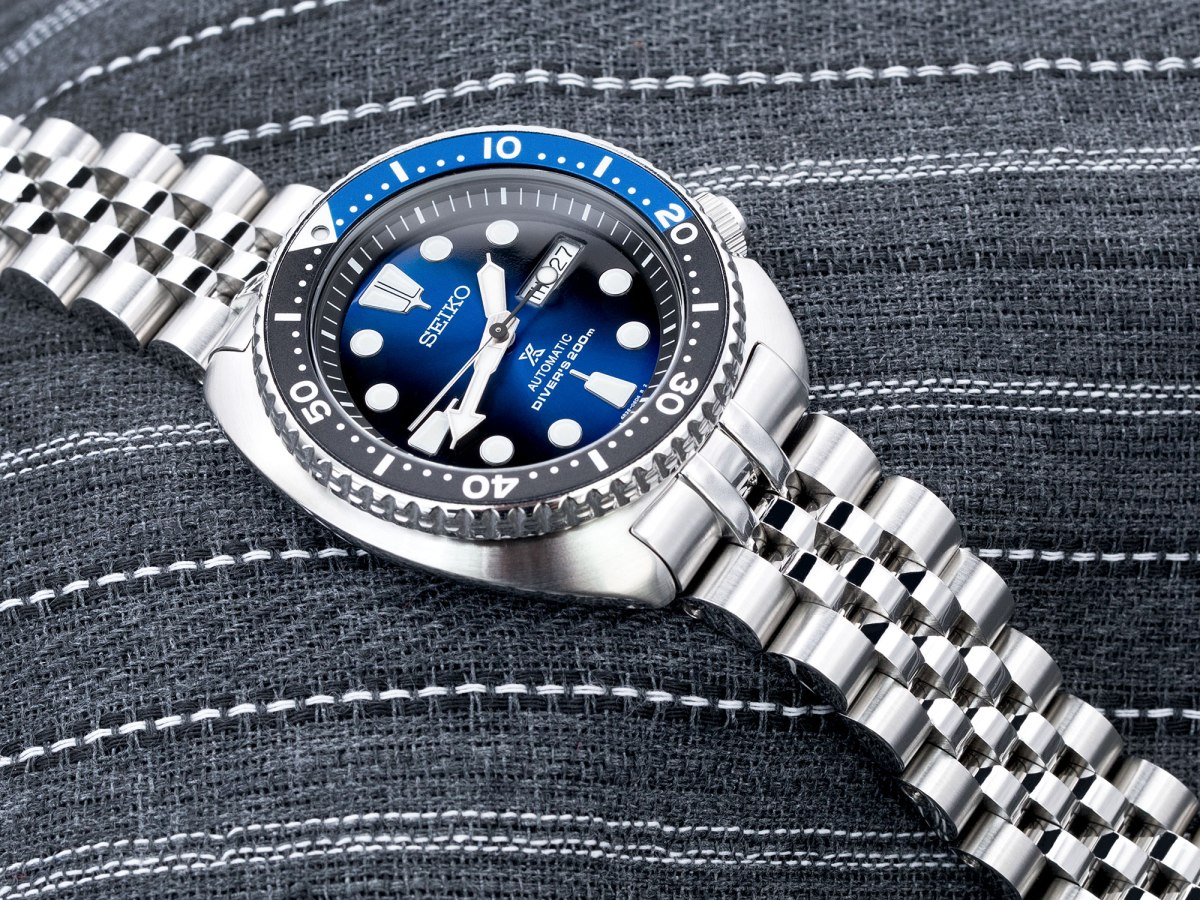 Shades of Black and Blue  Seiko new Turtle Deep Blue Batman SRPC25K  Strapcode