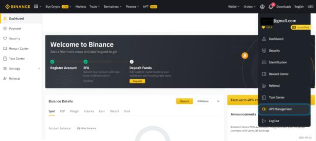 Binance-dashboard - Telegram crypto price bot