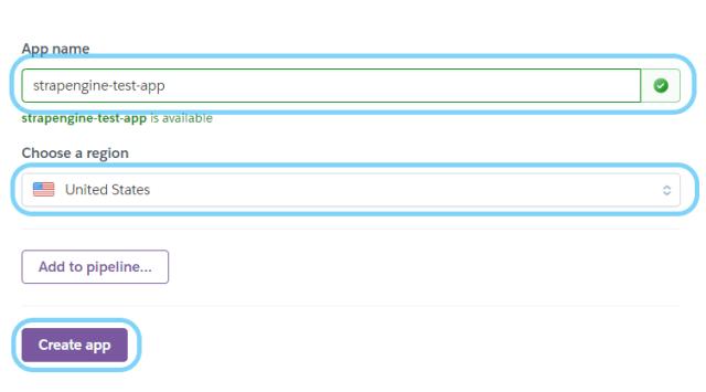 choose app name on heroku - free node js hosting
