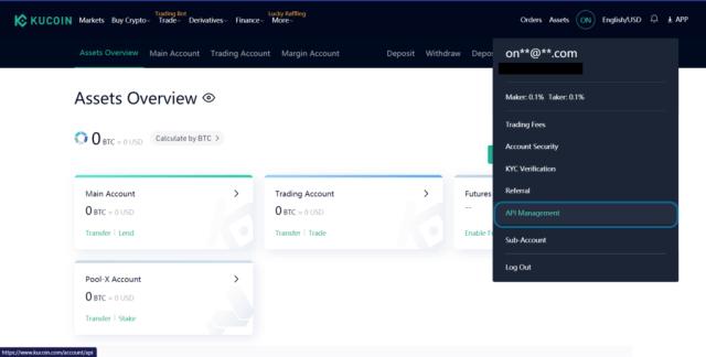 Kucoin Dashboard - Telegram crypto price bot