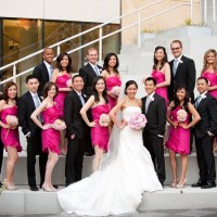 Vivid Fuchsia Strapless Bridesmaid Dresses  RedBD UK ...