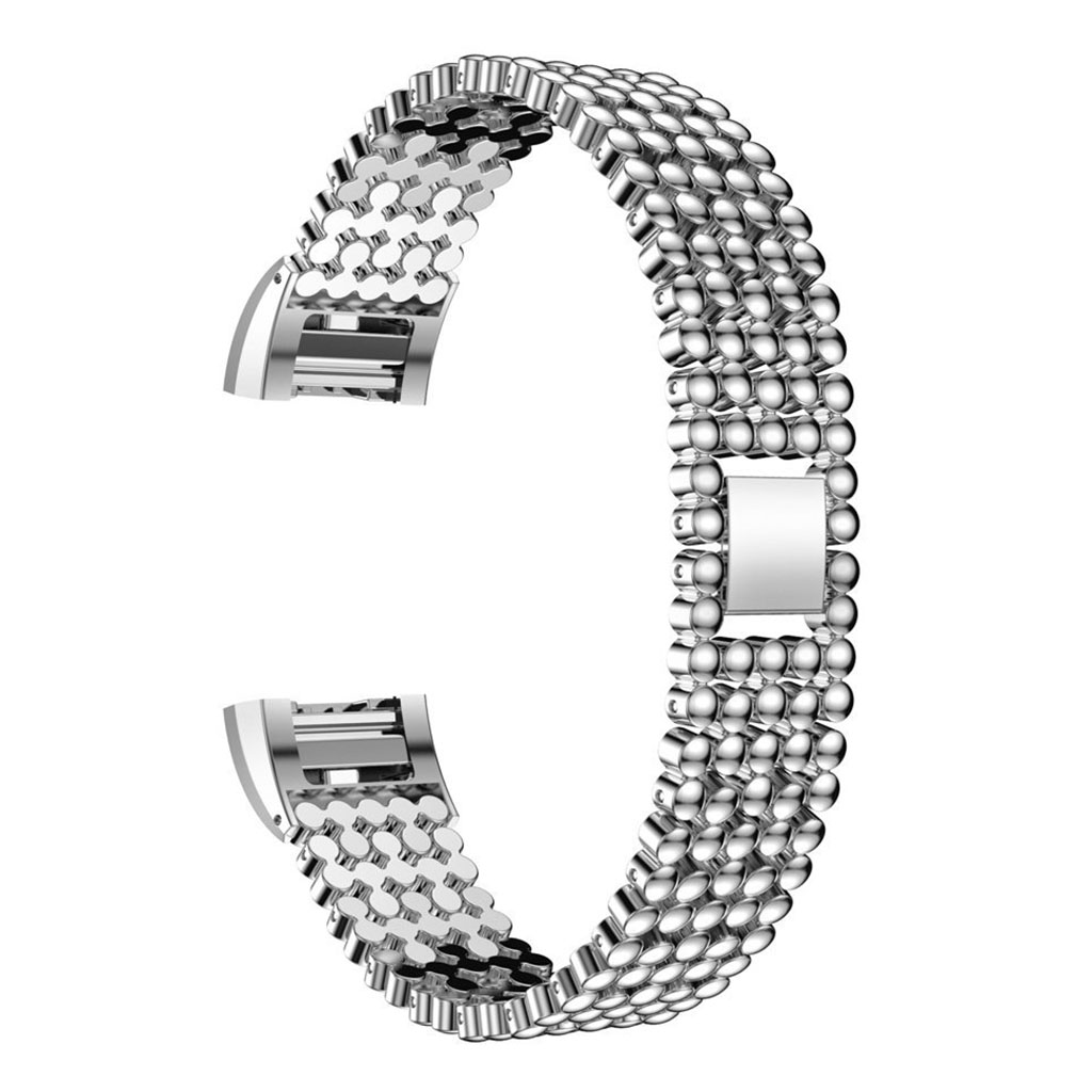 Fitbit Charge 2 Beaded Style 316l Stainless Steel Watch