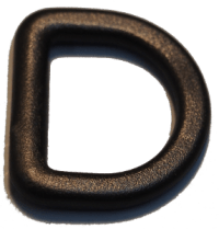"3/4"" Black Nylon D-Ring"