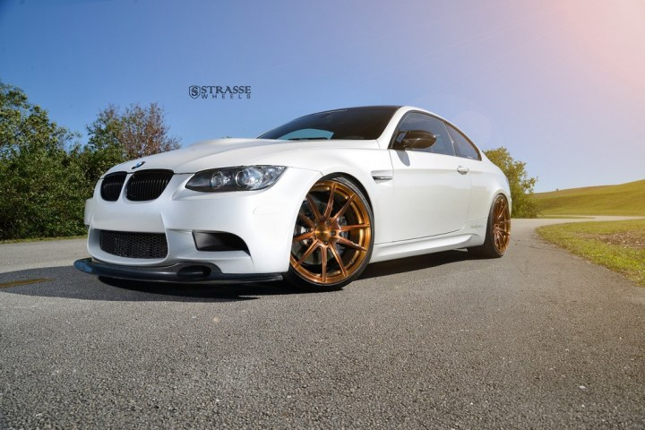 Strasse Wheels - Mineral White BMW E92 M3 - SV5 Deep Concave Monoblock 4