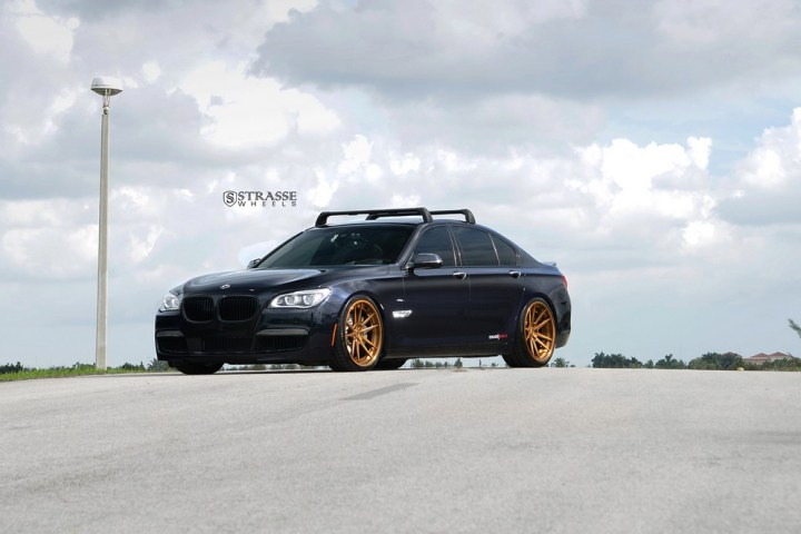 "Strasse Wheels - BMW F01 750 - Gloss Brushed Bronze 21"" SV1 Deep Concave FS Wheels 3"