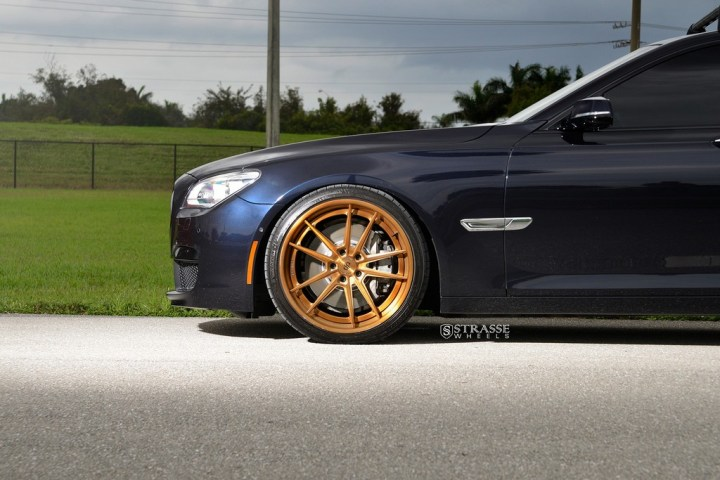 "Strasse Wheels - BMW F01 750 - Gloss Brushed Bronze 21"" SV1 Deep Concave FS Wheels 4"