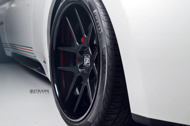Strasse Wheels Matte White Maserati Gran Turismo 11