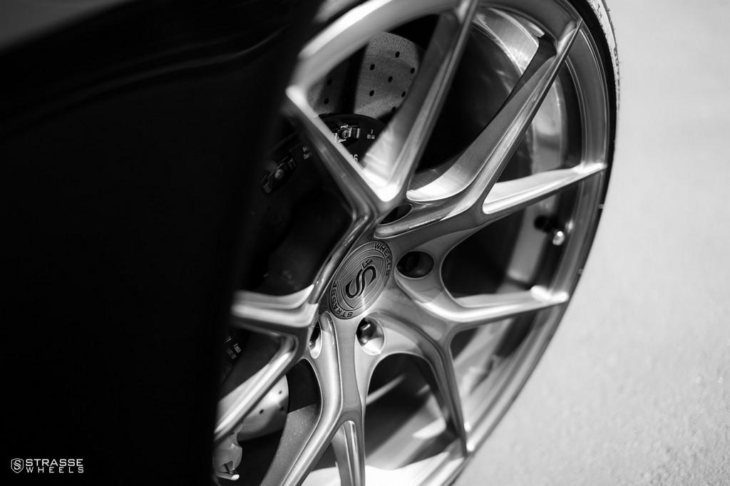"Strasse Wheels - Porsche 991 Turbo S - 21"" SM5R Deep Concave Monoblocks - Gloss Brushed Titanium 5"
