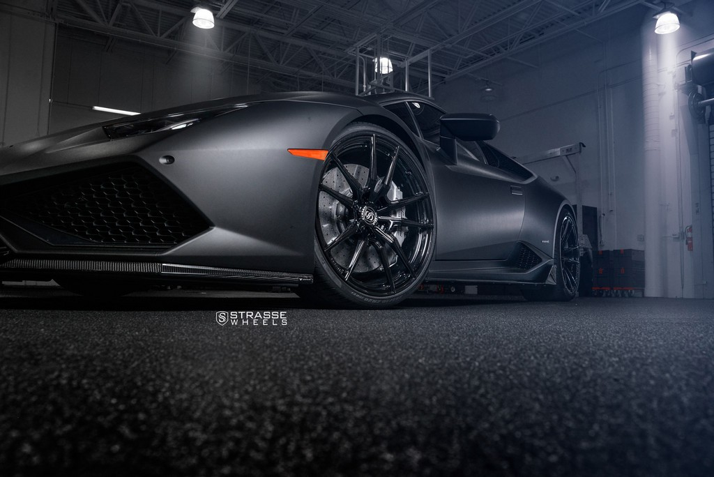 "Matte Black Lamborghini Huracan LP610-4 - 20"" SV1 Deep Concave Monoblock Wheels - Strasse Wheels 5"