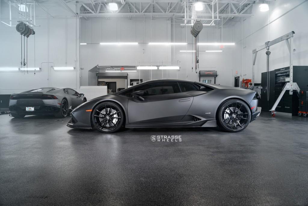 "Matte Black Lamborghini Huracan LP610-4 - 20"" SV1 Deep Concave Monoblock Wheels - Strasse Wheels 7"