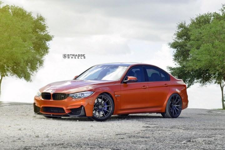 Strasse Wheels Sakhir Orange BMW M3 1