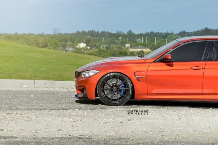 Strasse Wheels Sakhir Orange BMW M3 7