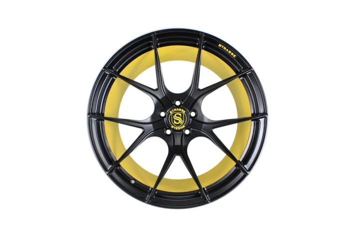 SM5R Concave Monoblock - Satin Black & Yellow Barrel 1