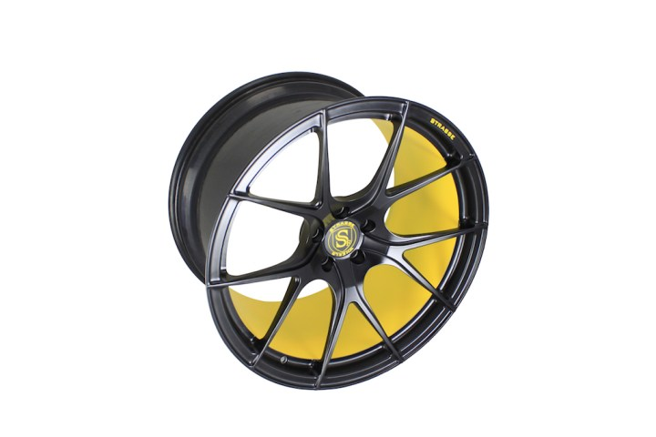 SM5R Concave Monoblock - Satin Black & Yellow Barrel 4